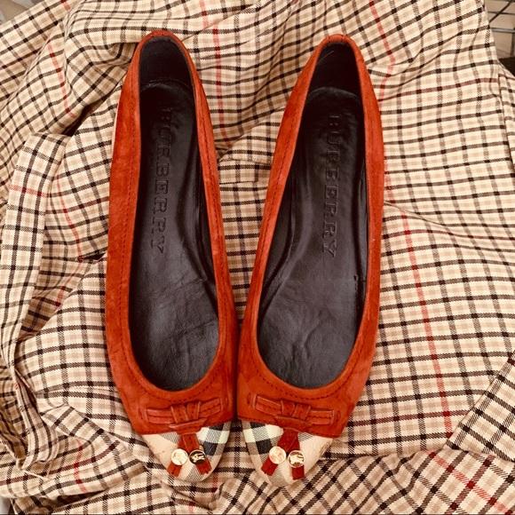 Burberry Shoes - Burberry ballerina flat nova check in cinnamon